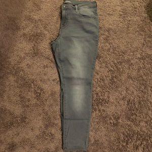 Gray skinny jeans 14 Short